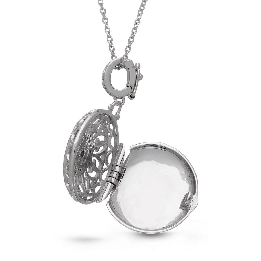 Locket Necklace with Diamonds