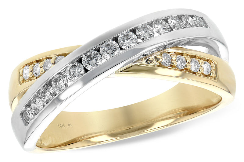 Two Tone Diamond Band