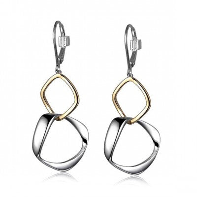 ELLE Two Tone Hoop Earring