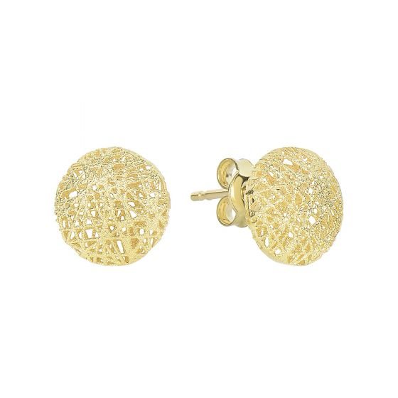 Puffed Circle Post Earring