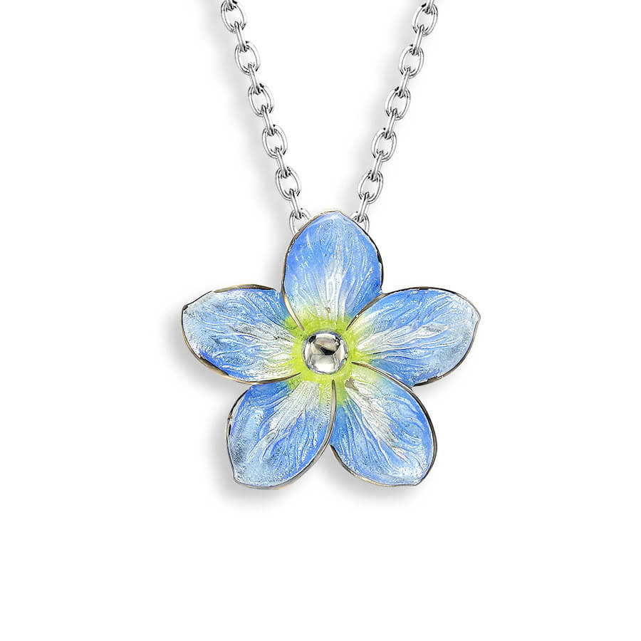 Forget Me Not Blue Necklace