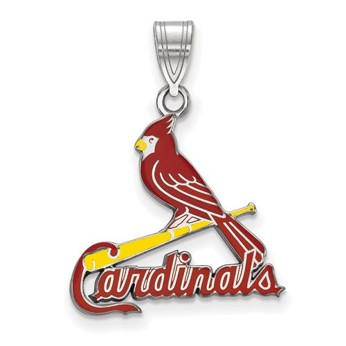 St Louis Cardinals Large Red Enamel Pendant