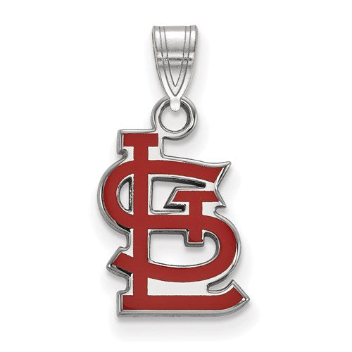 St Louis Cardinals Small STL Red Enamel Pendant