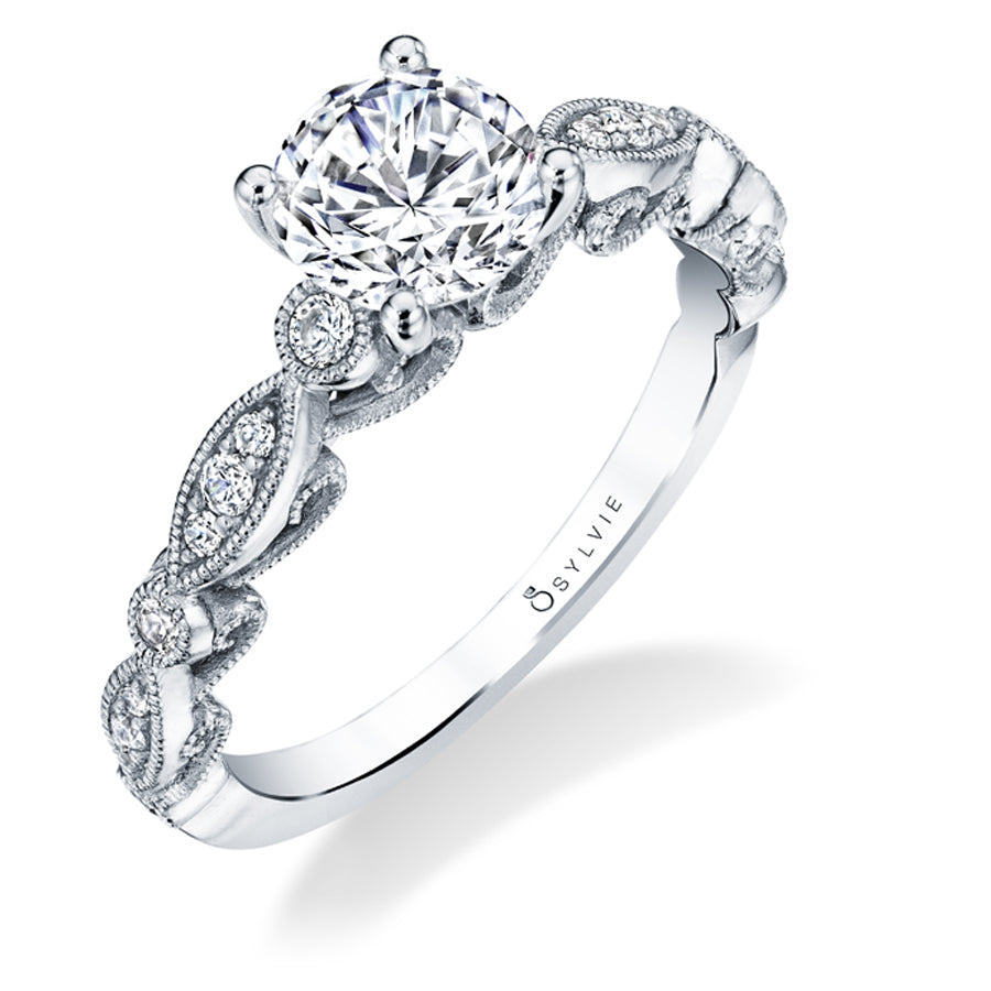 Sylvie Vintage Diamond Engagement Ring