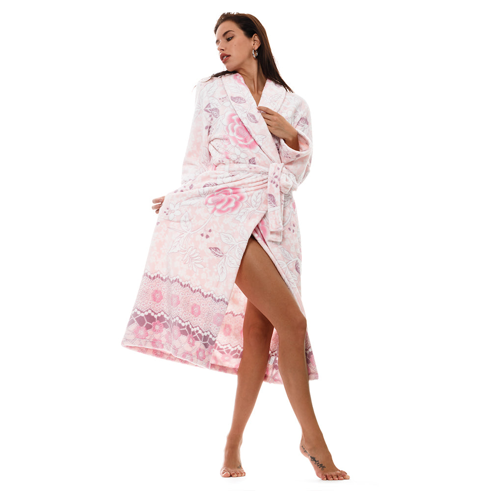 5f86a70de3 Spend lazy Sunday mornings feeling like you ve been wrapped in a blanket in  this snuggly plush robe. Details   Care  Cozy and Curious. Plush fleece ...