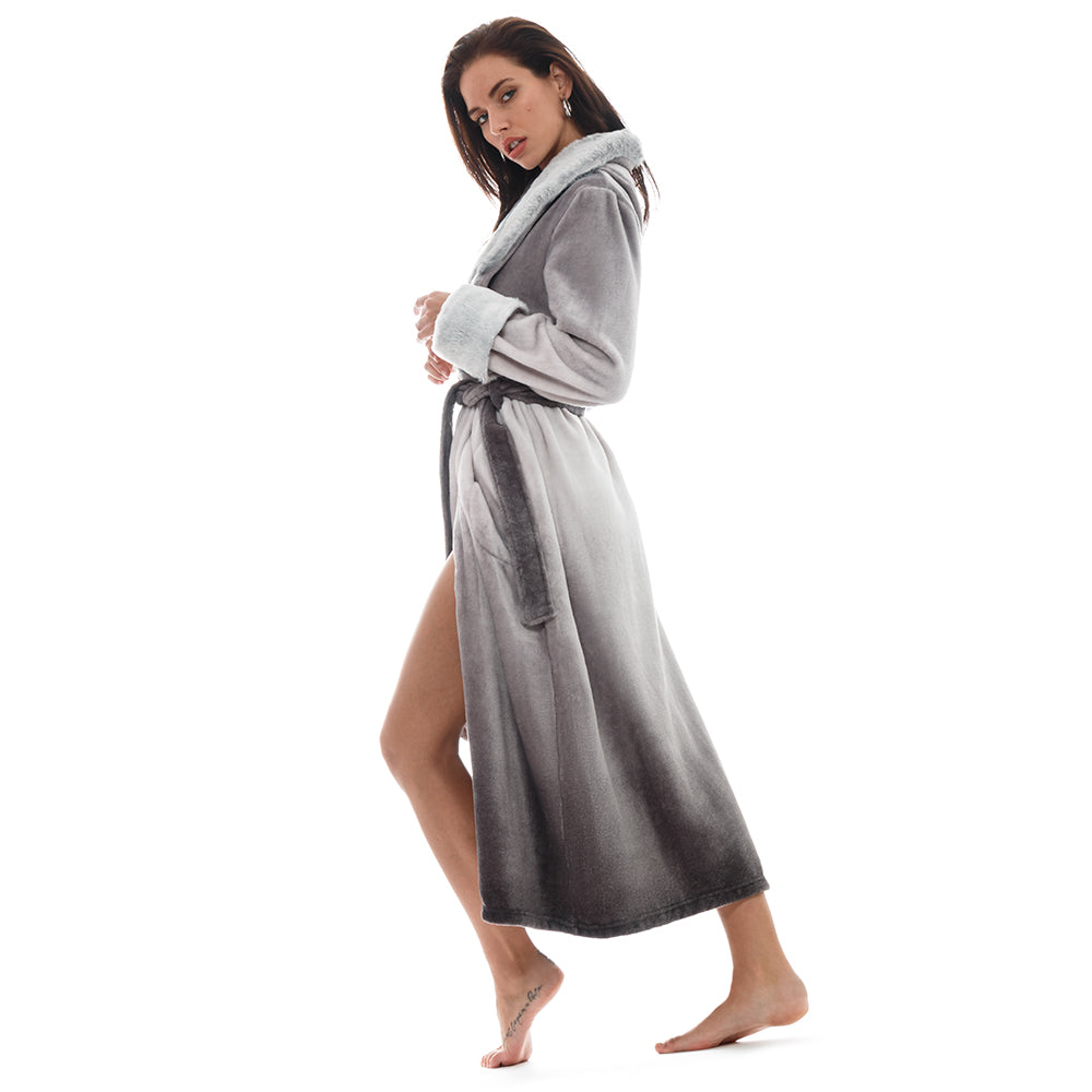 155c07e6f5 Love your faux fur coat so much you want to wear it even when you re home   Now you can with this chic and cozy robe.