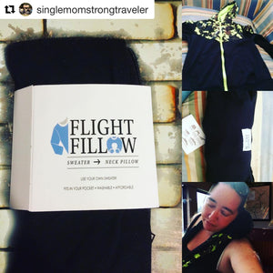 Flight Fillow turns Sweater into Neck pillow, hoodie to neck pillow, sweater to travel pillow, hoodie to travel pillow, fits in your pocket, neck pillow, travel pillow, airplane pillow, airplane travel pillow, travel neck pillow, flight fillow, easy to us