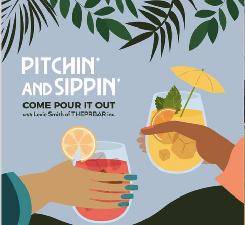 Pitchin and Sippin Podcast Logo