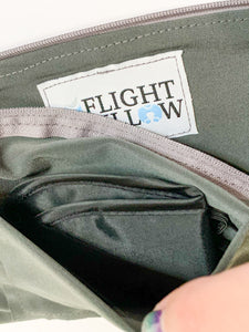 NEW! - Flight Fillow Red Eye (Grey Flight Fillow with Pocket + Black Eye Mask)