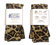 Cheetah Print Flight Fillow | Sweater to Neck Pillow | Flight Pillow