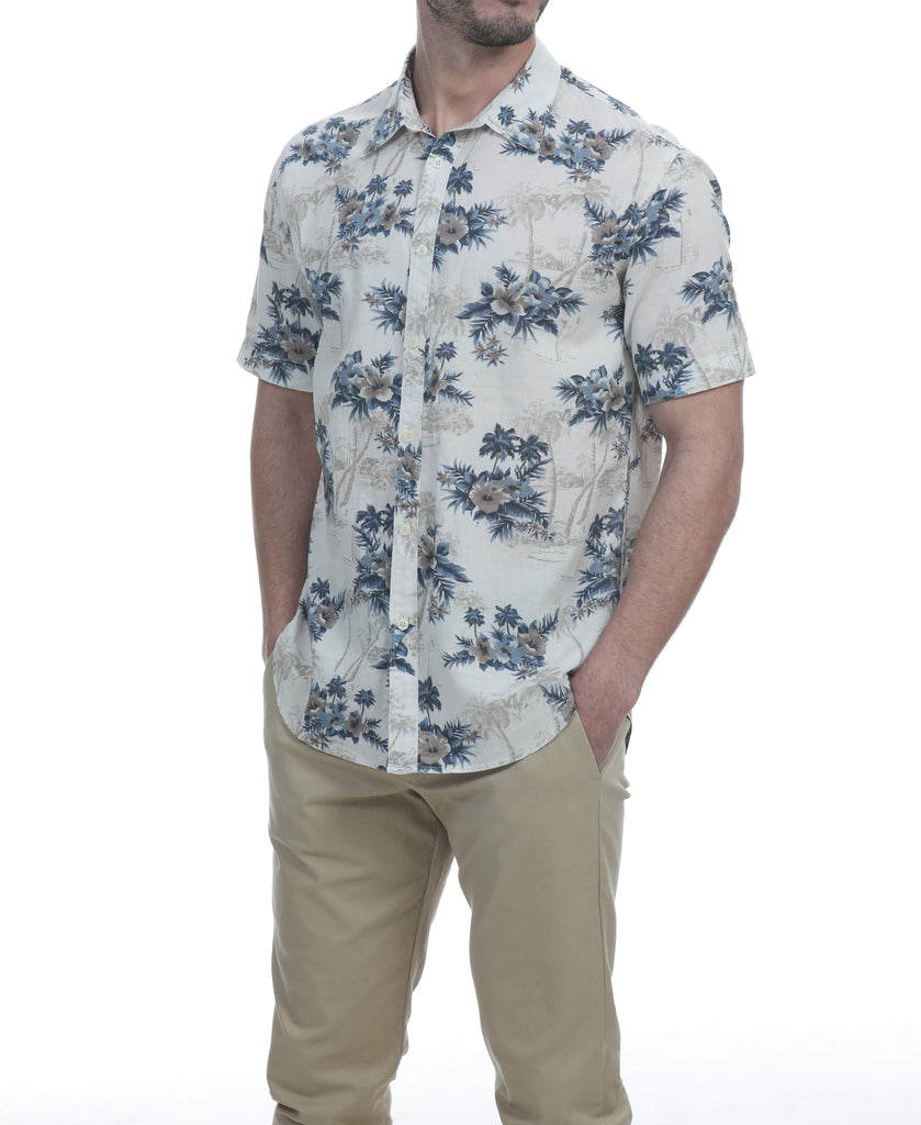 Kimah Short Sleeve Botanical Shirt