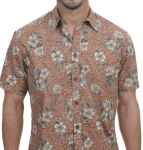 Mangosso Short Sleeve Botanical Shirt