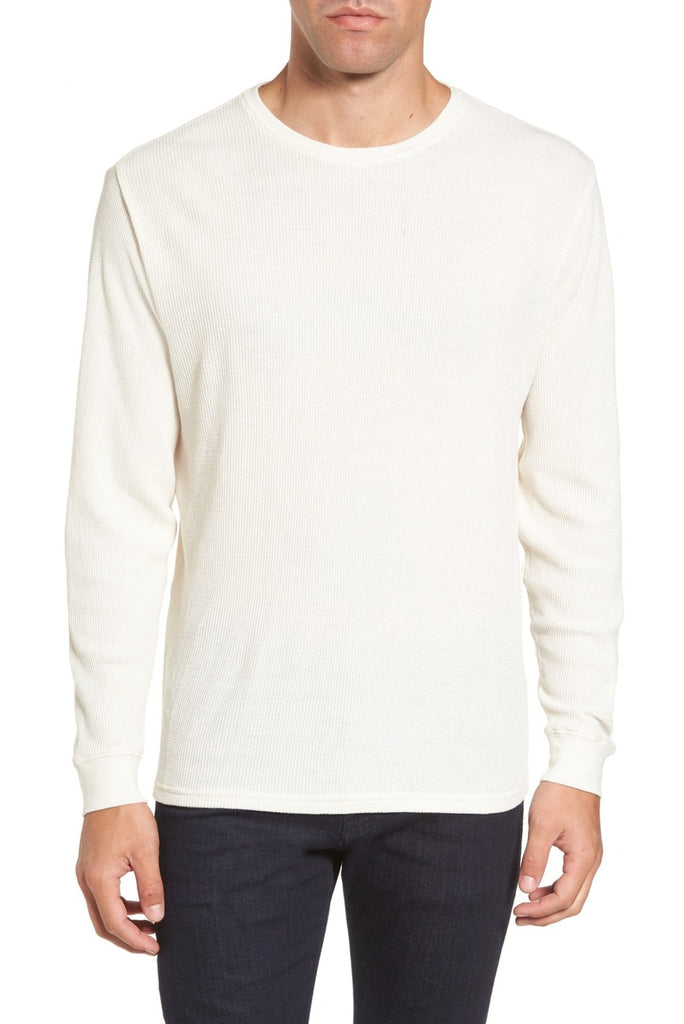 Vista Waffle Knit Long Sleeve T-Shirt - Ivory