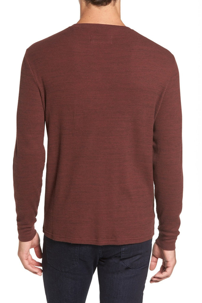 Vista Waffle Knit Long Sleeve T-Shirt - Ocean