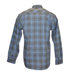 Pizzi Freddler Regular Fit Plaid Flannel Shirt - Blue