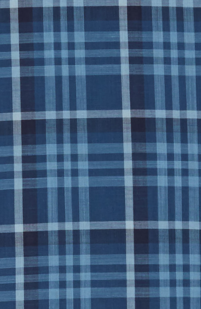 Coetez Short Sleeve Check Plaid Sport Shirt - Blue