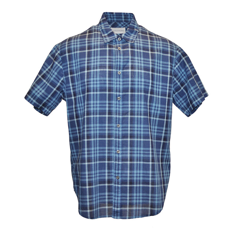 Coetez Short Sleeve Check Plaid Shirt