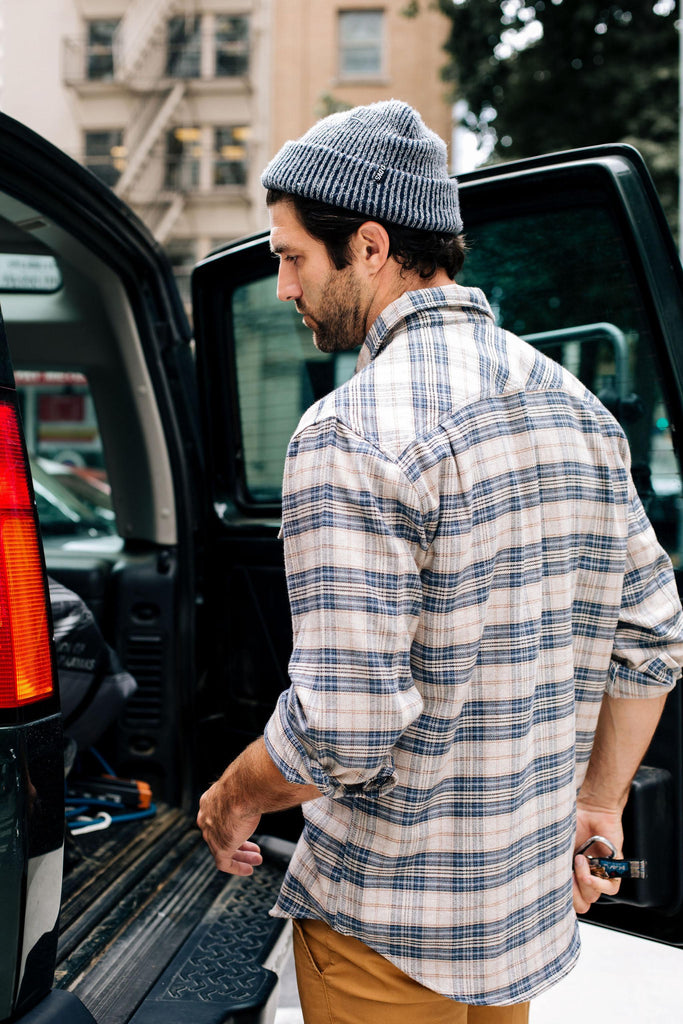Moreno Long Sleeve Plaid Button Up Flannel Shirt