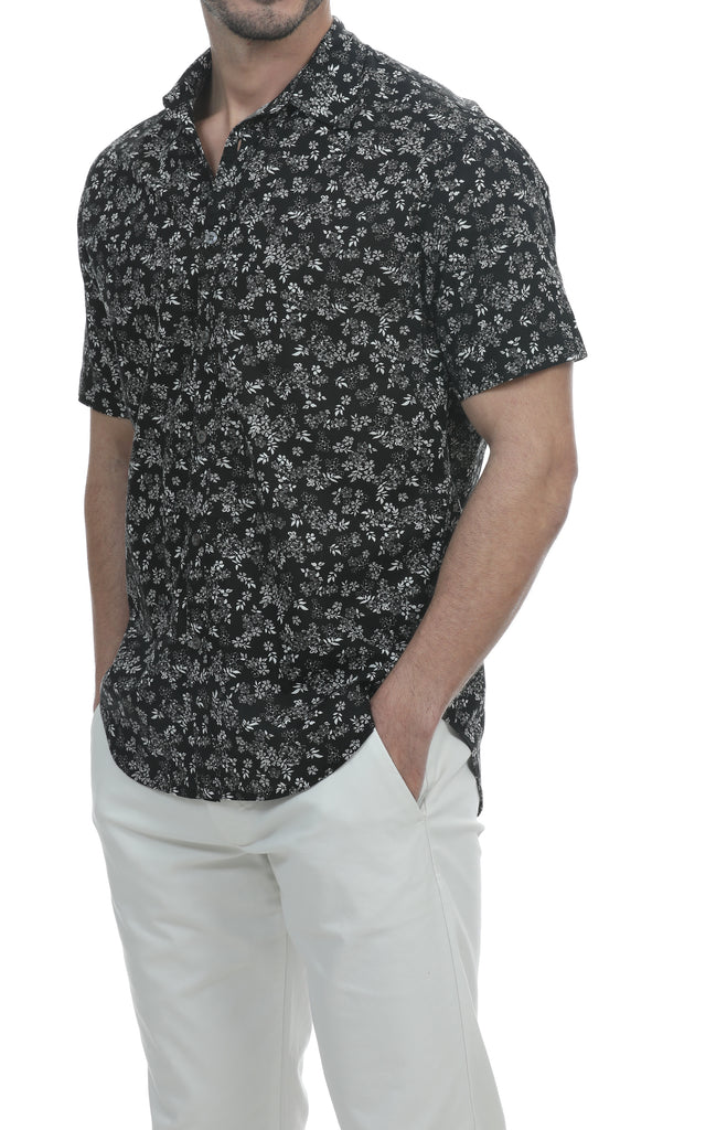 San Juan Short Sleeve Botanical Shirt Button Down Shirt