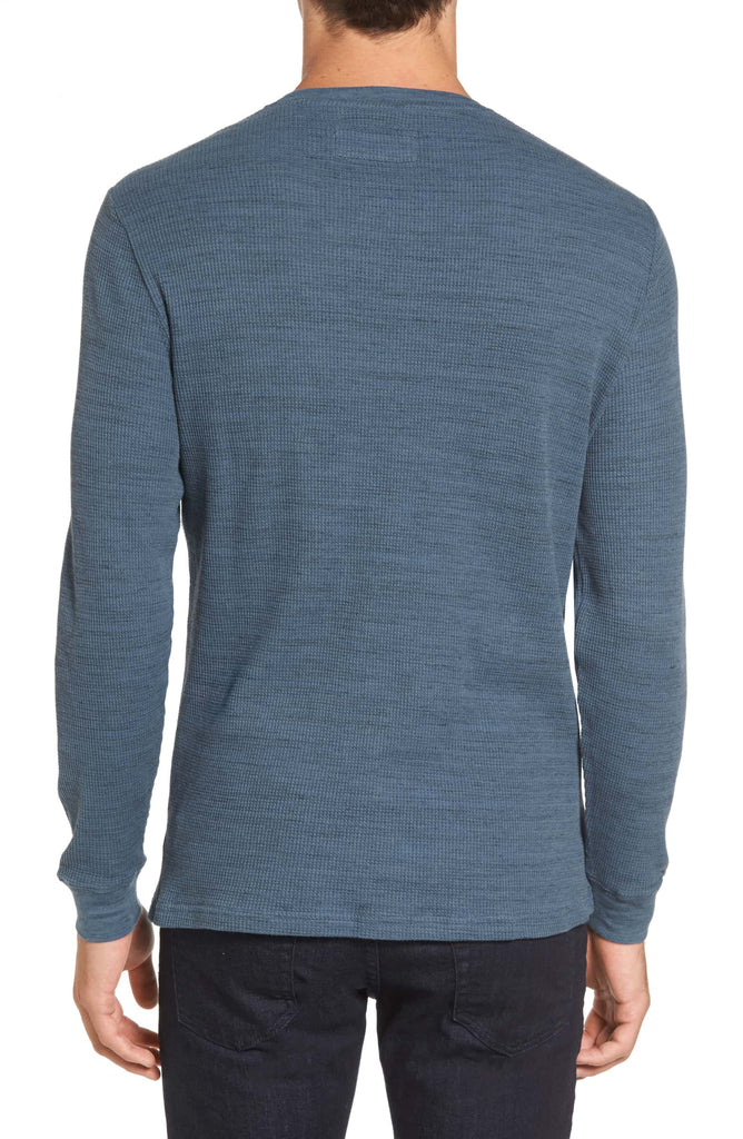 Vista Waffle Knit Long Sleeve Shirt - Sky Blue