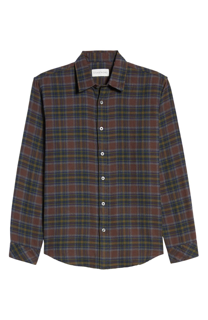 Finnoca Long Sleeve Check Button Up Shirt