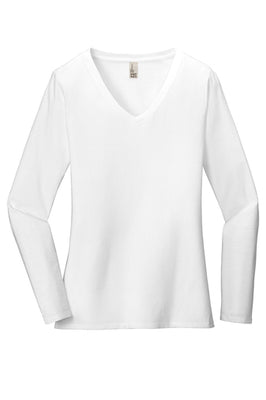 District Women's Very Important Long Sleeve V-Neck T-Shirt - DT6201