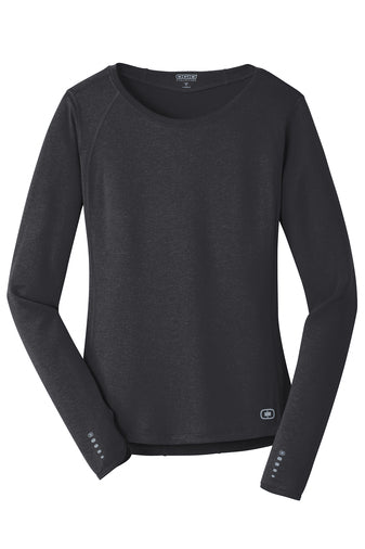 OGIO Endurance Ladies Long Sleeve Crew Neck T-Shirt - LOE321