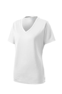 LST340 Sport-Tek Ladies PosiCharge RacerMesh V-Neck T-Shirt