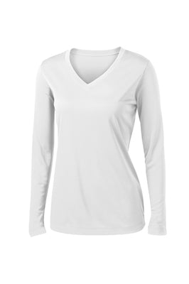 LST353LS Sport-Tek Ladies Long Sleeve Competitor V-Neck T-shirt