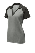 Sport-Tek Ladies PosiCharge RacerMesh Raglan Heather Block Polo - LST641