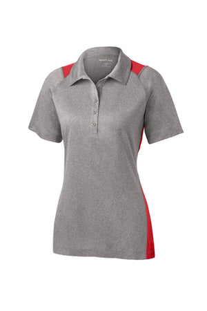 Sport-Tek Ladies Heather Colorblock Contender Polo - LST665