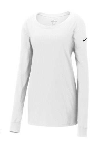 Nike Ladies Core Cotton Long Sleeve Scoop Neck T-Shirt - NKBQ5235