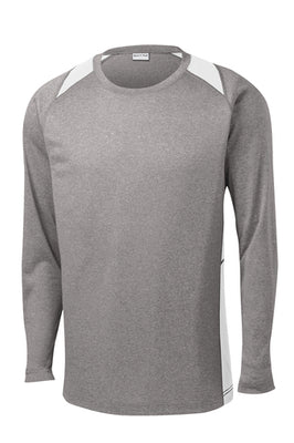 Sport-Tek Long Sleeve Heather Colorblock Contender T-Shirt - ST361LS