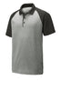 Sport-Tek PosiCharge RacerMesh Raglan Heather Block Polo - ST641