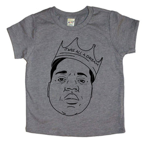 biggie shirt, biggie smalls, it was all a dream shirt, hand drawn biggie, kids rapper shirt, rap shirt, funny graphic tee