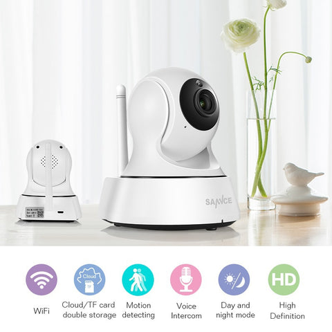Image of Home Security IP Camera Wi-Fi Wireless Mini Network Camera Surveillance Wifi 720P Night Vision CCTV Camera Baby Monitor