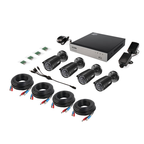 8CH CCTV System 4PCS 1280TVL Outdoor Weatherproof Security Camera 8CH 720P DVR Day/Night DIY Kit Video Surveillance System
