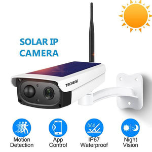 OUTDOOR 1080HD WIRELESS SOLAR SECURITY CAMERA WITH WATERPROOF AND MOTION DETECTIVE