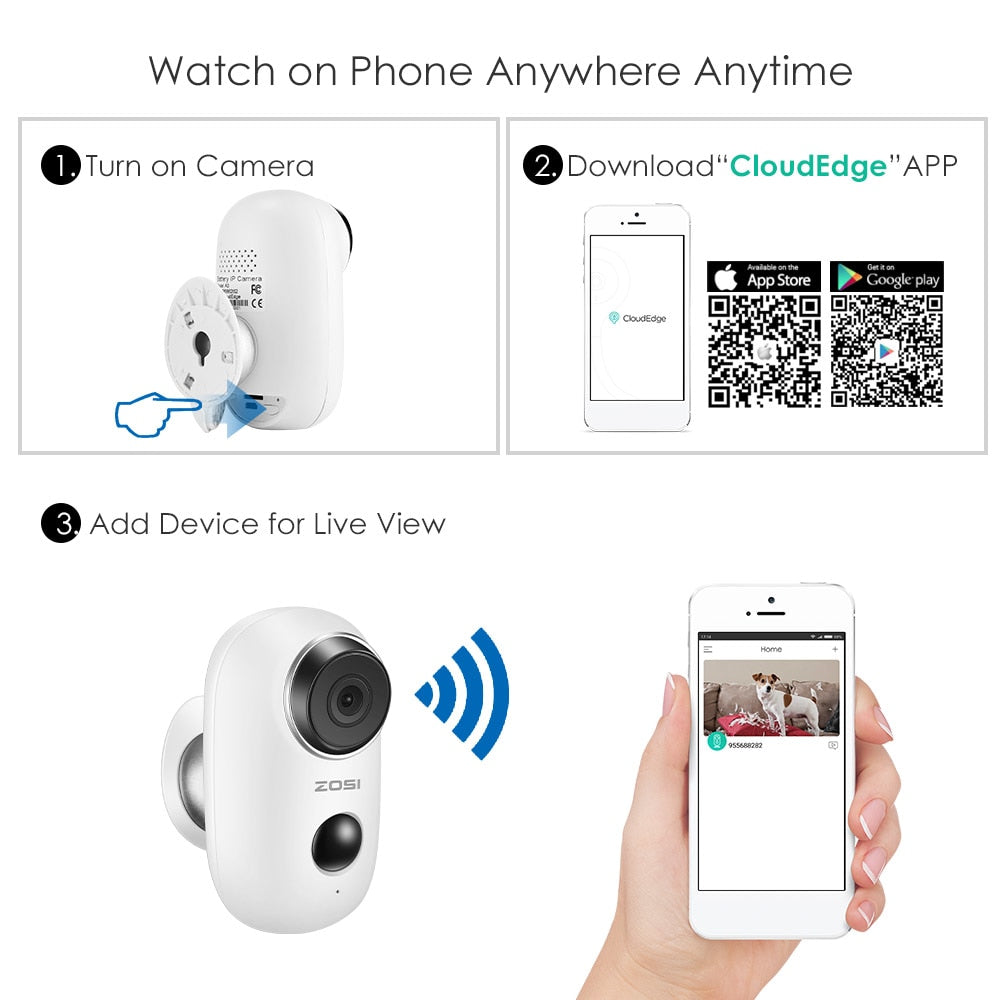 Home Camera 1080p Wireless IP Security Surveillance System with Night Vision, Baby Monitor on iOS, Android App - Cloud Service Available