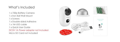 Image of Home Camera 1080p Wireless IP Security Surveillance System with Night Vision, Baby Monitor on iOS, Android App - Cloud Service Available