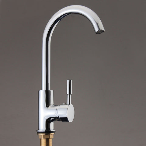 360Degree Rotatable Spout Kitchen Sink Basin Water Faucet Hot And Cold Single Handle Tap Faucet