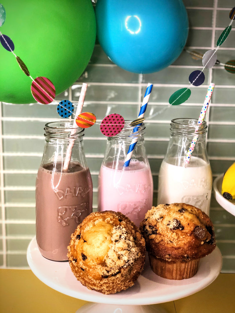 Milk bar for a kid's breakfast birthday party