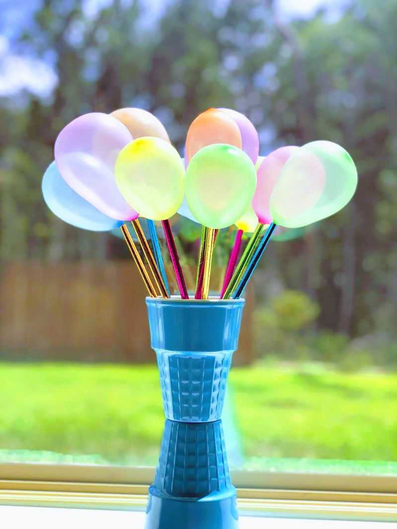Balloon Pop Centerpiece DIY project by Revelry Goods modern party store
