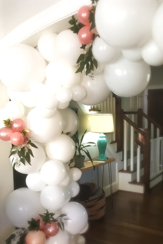 White Balloon Garland | Houston Custom Balloon Garland