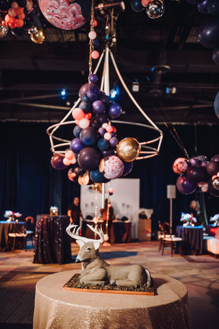 Hand painted avant garde balloon chandelier by revelry goods