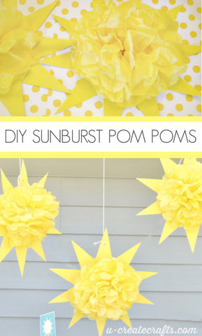 Sunburst Pom Pom Party Decor for Sunshine Party