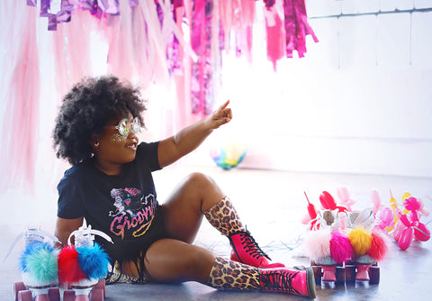 disco party photo shoot by iridescent photography in houston, tx with revelry goods