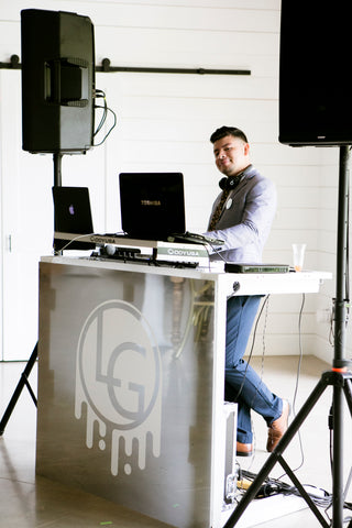 lg event dj booth at the meekermark houston