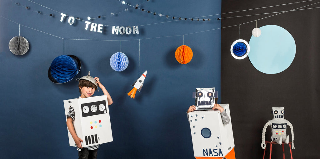 Meri Meri To The Moon Space and Robot Party Collection | Revelry Goods