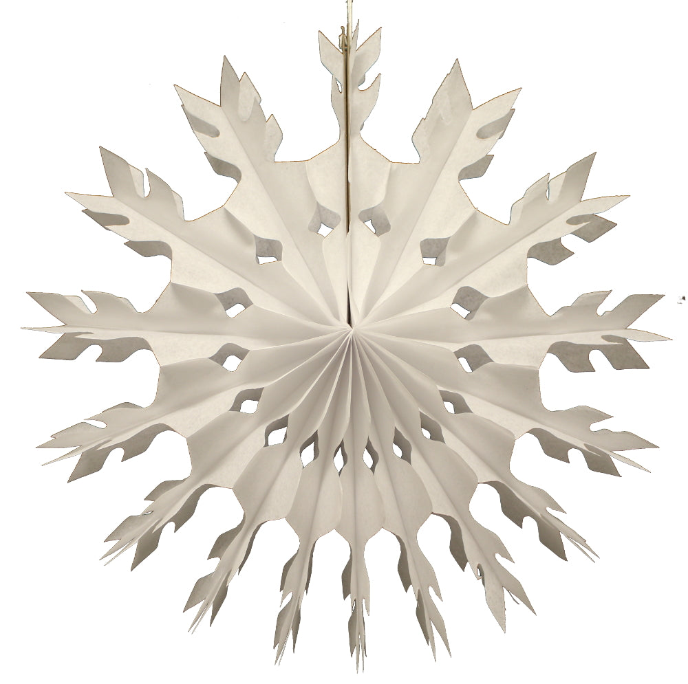 "Load image into Gallery viewer, White Honeycomb Tissue Snowflake- 15"" - Revelry Goods"